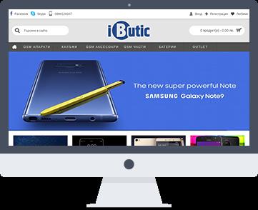 Уеб сайт iButic.bg - онлайн магазин за смартфони, части и аксесоари за телефони. Оптимизация на сайт и поддръжка от SEVEN.BG